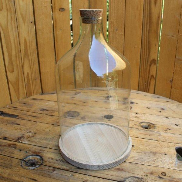 Glasterrarium mit Holzuntersetzer Bild 1